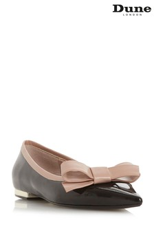 Dune London Black Bow Detail Flat