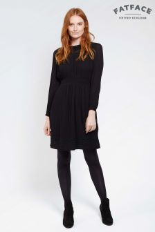 FatFace True Black Hazel Embroidered Dress
