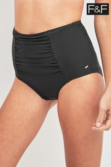 F&F Black Shaping High Waisted Brief