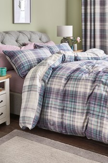 Brushed Cotton Hadley Check Duvet Cover and Pillowcase Set