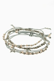 Mixed Metal Star Motif Bracelet Pack