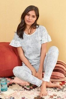 Ruffle Paisley Pyjamas