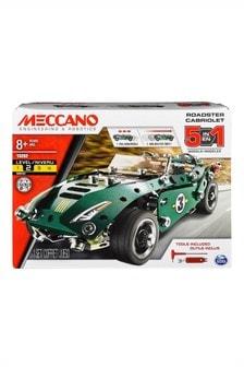 Meccano 5 Modellbau-Set Roadster mit Rückzugsmotor