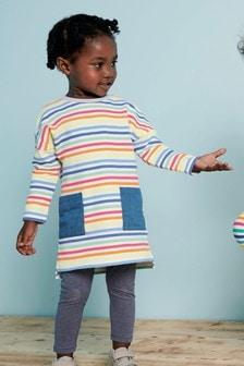 Long Sleeve Stripe Dress (3mths-6yrs)