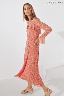 Mix/Kitri Studio Floral Frill Wrap Dress