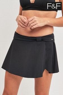 חצאית מחטבת שחורה של F&F