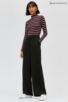 Warehouse Black Wide Leg Trouser
