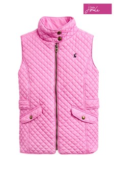 Joules Jilly Steppweste für Mädchen, pink