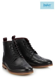 Baker by Ted Baker Black Brogue Boot