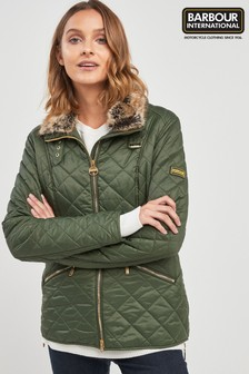 Barbour® International Green Corner Quilt Jacket