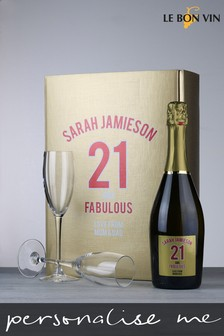Personalised Birthday Age Prosecco And Glasses by Le Bon Vin