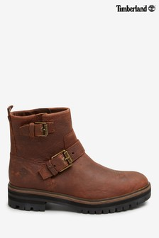 Timberland® Brown London Square Biker Boots