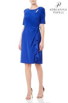 Adrianna Papell Blue Matte Jersey Dress
