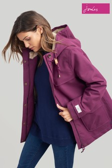 Joules Purple Chevron Quilted Jacket