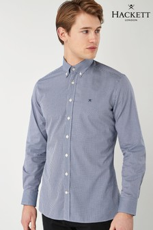 Hackett Mini Check Blue Shirt