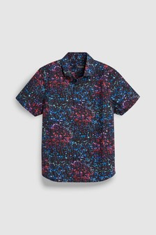 Short Sleeve Glitch Print Shirt (3-16yrs)