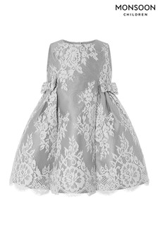 Monsoon Grey Baby Valeria Lace Dress