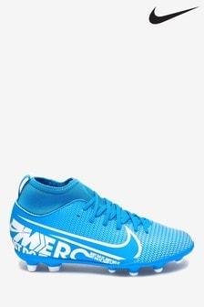 Nike Blue Superfly Club Firm Ground Junior