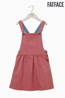 FatFace Pink Twill Pinafore Dress
