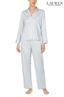 Lauren Ralph Lauren® Grey Stripe Pyjama Set