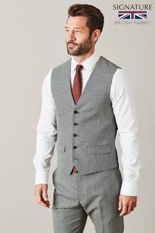 Empire Mills Signature Check Suit: Waistcoat