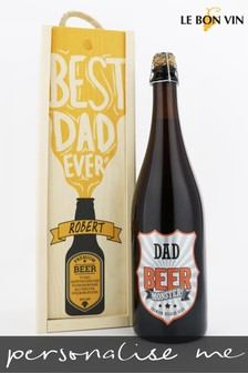 Personalised Silly Saison Cheers Dad Beer Gift Box by Le Bon Vin
