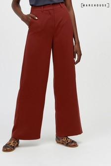 Warehouse Red Wide Leg Trouser