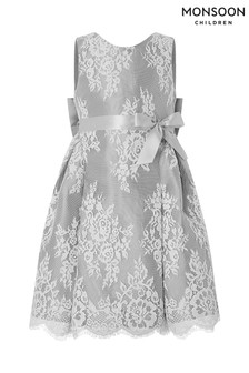 Monsoon Grey Valeria Lace Dress