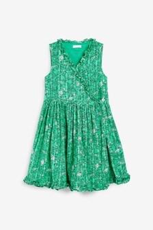 Cotton Wrap Dress (3-16yrs)