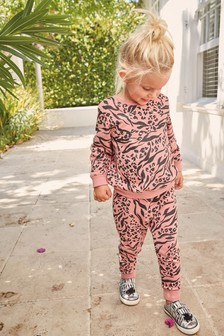 Animal Print Sweat And Joggers Set (3mths-7yrs)