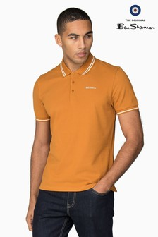 Ben Sherman Gold Metal Script Tipped Pique Polo