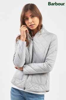 Barbour® Ice White Lightweight Helm Quilt Jacket
