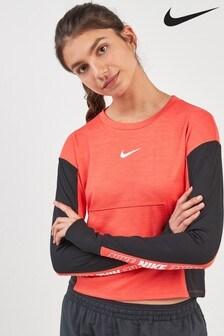 Różowa bluza z okrągłym dekoltem Nike Pacer