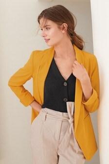 Пиджак с манжетами на рукавах