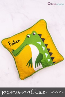 Personalised Crocodile Novelty Cushion by Loveabode