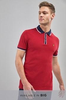 Рубашка поло с контрастной планкой