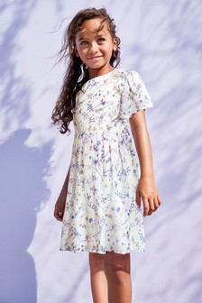 Embroidered Ditsy Dress (3-16yrs)