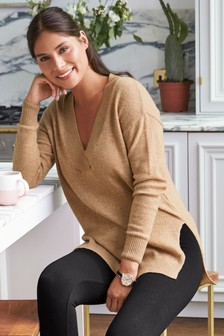 Knitted Jumper With Cashmere