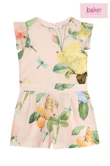 baker by Ted Baker Pink Flower Print Playsuit