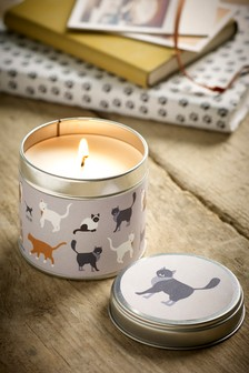 Cats Tin Candle