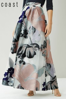 Coast Silver Daphne Jacquard Full Skirt