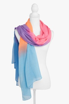 Neon Ombre Lightweight Scarf