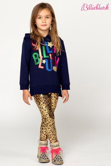 Billieblush Gold Leopard Print Leggings