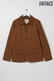 FatFace Brown Polzeath Cotton Worker Jacket
