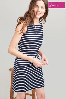 Joules Blue Riva Sleeveless Jersey Dress