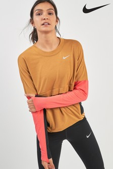 Nike Dri-FIT Therma Sphere Beige Running Top