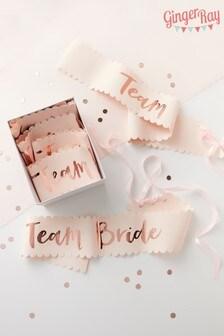 6 Pack Team Bride Sashes