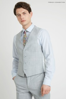 French Connection Slim Fit Pebble Marl Waistcoat