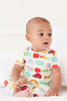 Character Print T-Shirt And Leggings Set (0mths-2yrs)