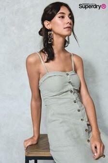 Superdry Khaki Midi Dress